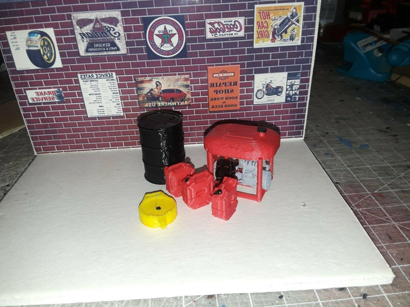 1 24 scale generator gas cans accessories
