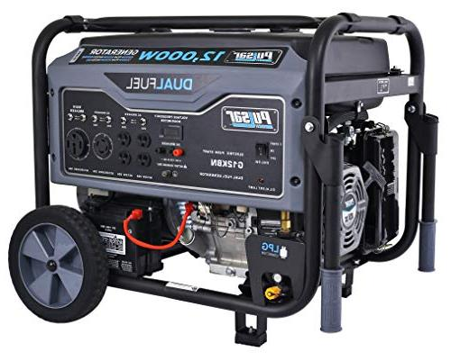 Pulsar 12,000W Fuel Portable Generator Gray Electric Start, G12KBN