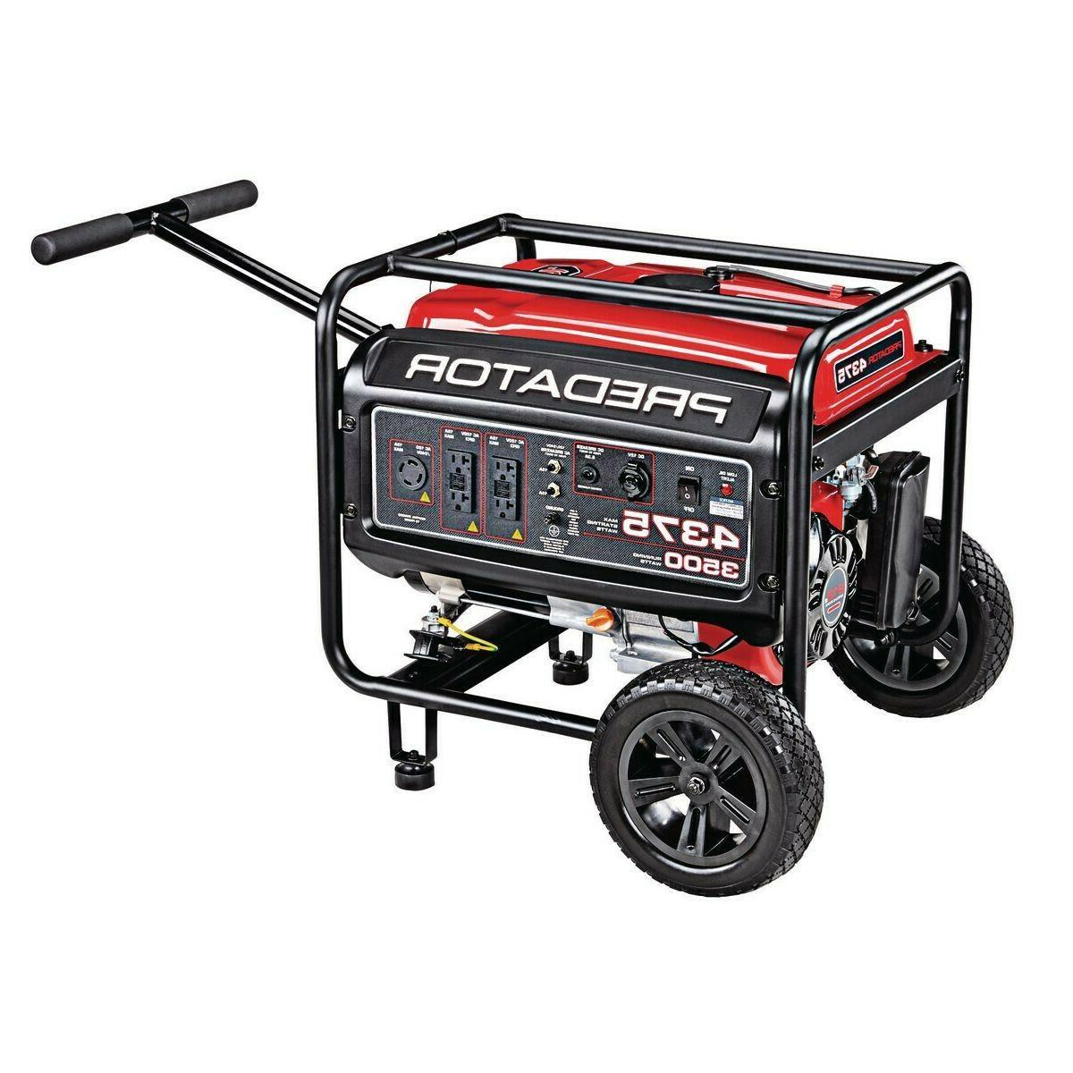PREDATOR 4375 Watt Starting Extra Gas Powered Generator