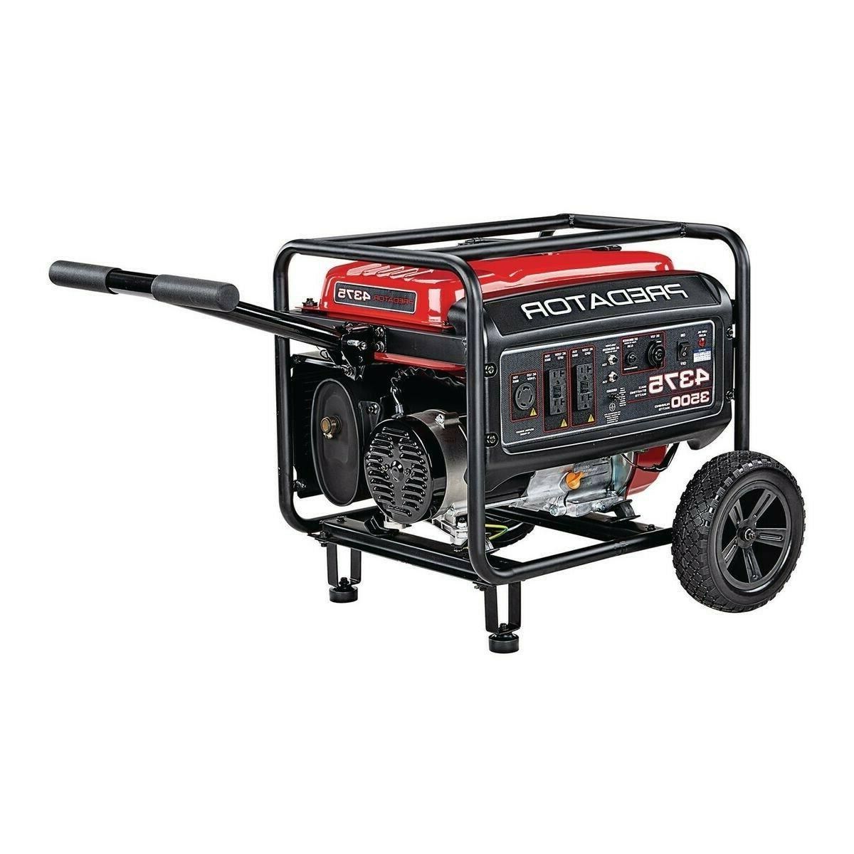 PREDATOR 4375 Starting Gas Powered Generator
