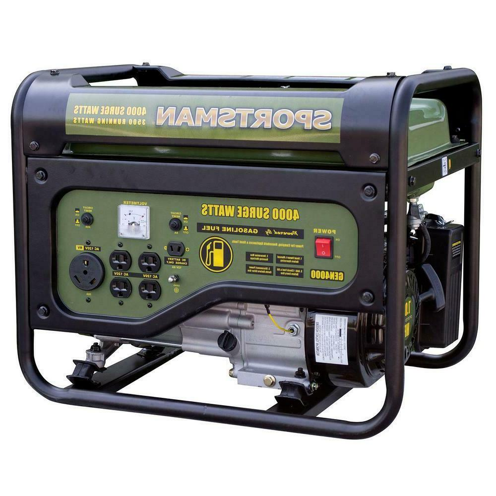 4,000/3,500-Watt Gasoline Powered Portable Generator With Rv