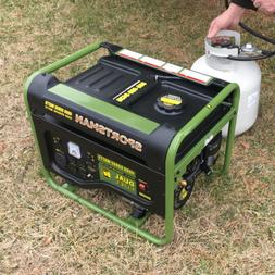 Portable Generator 4,000/3,500-Watt Dual Fuel Powered Runs o