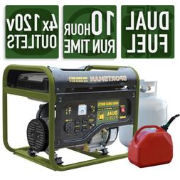 Portable Generator Duel Fuel LPG or Reg Gas 4 outlets  4,000