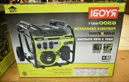 RYOBI 6,500-Watt Gasoline Powered Portable Generator with CO